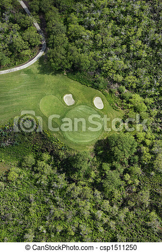 Aviación del campo de golf. - csp1511250