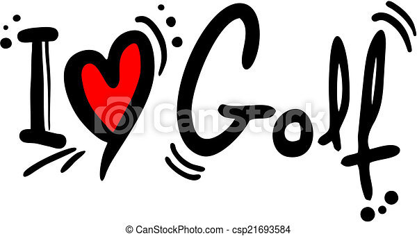 Amor de golf - csp21693584
