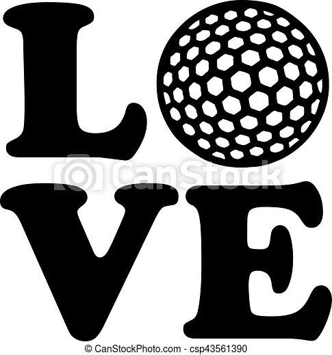 Una pelota de golf - csp43561390