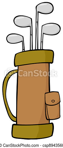 golf bag full of clubs vector clipart search illustration rh canstockphoto com free golf bag clipart Golf Clubs