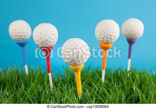 Golf ball cake pops - csp13938064