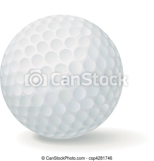golf ball vector golf ball isolated in white