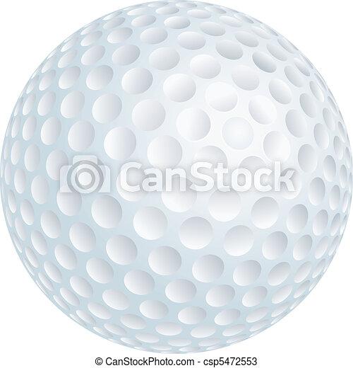 golf ball vector illustration of golf ball
