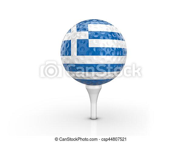 Golf ball Greece flag - csp44807521