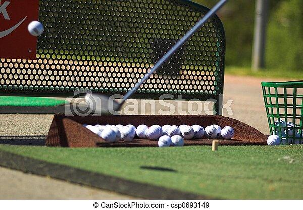 Golf Ball Hit - csp0693149