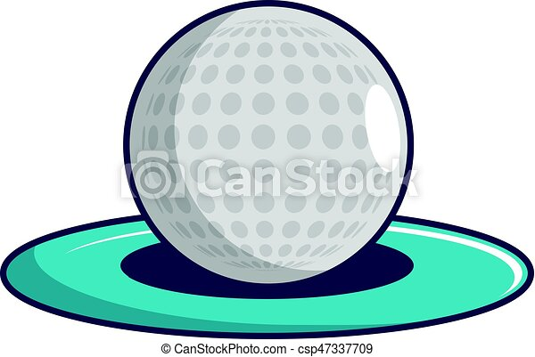 golf ball icon cartoon style golf ball icon cartoon vector rh canstockphoto com golf vector uniform golf vector free download
