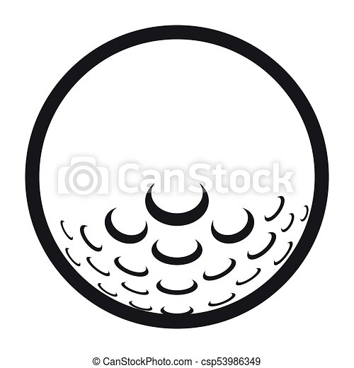 golf ball icon on a white background vector illustration eps vector rh canstockphoto ie golf ball flight path graphic golf ball graphic free