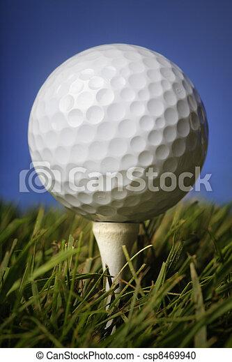 Golf ball in grass - csp8469940