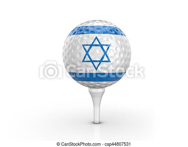 Golf ball Israel flag - csp44807531