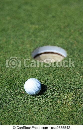 golf ball on a green - csp2685542