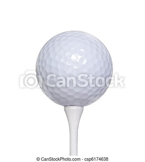Golf Ball on a Tee - csp6174638