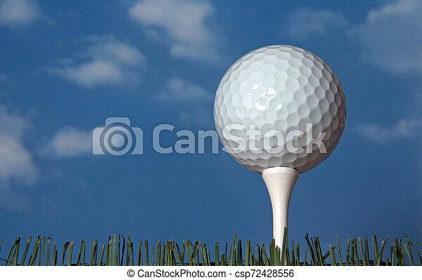 Golf Ball on a Tee - csp72428556
