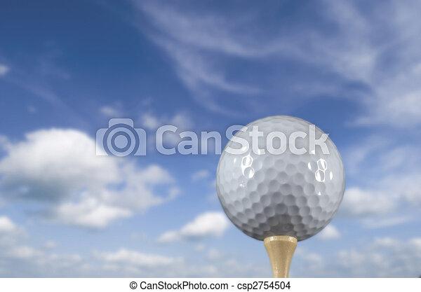 Golf ball on a tee - csp2754504