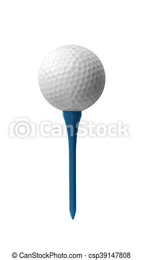 Golf ball on a tee - csp39147808