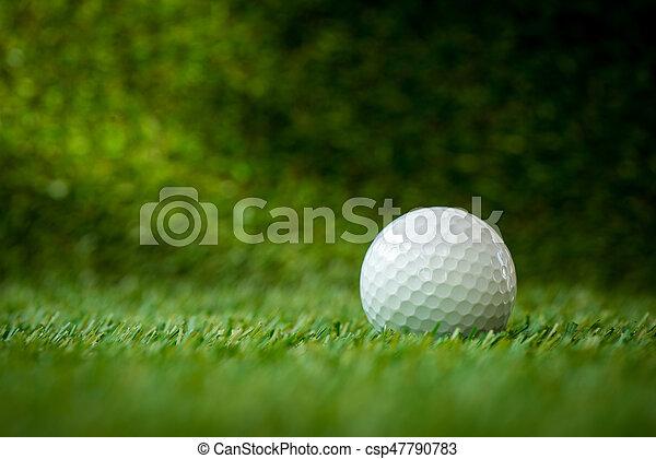 golf ball on fairway - csp47790783