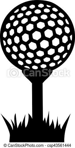 Golf ball on tee in grass eps vector - Search Clip Art ... Golf Ball On Tee Clipart