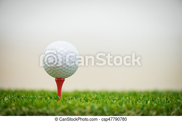 golf ball on tee - csp47790780