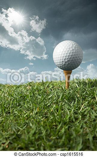 golf ball on tee - csp1615516