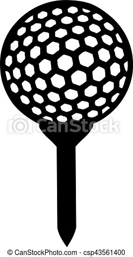golf ball on tee vector clipart search illustration drawings and rh canstockphoto ca golf ball graphic vector golf ball graphics free