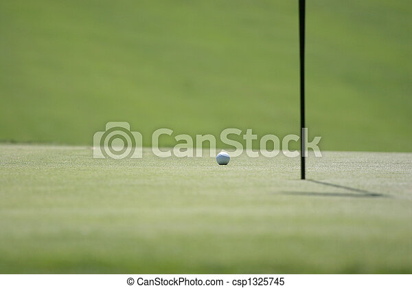 golf ball on the green - csp1325745