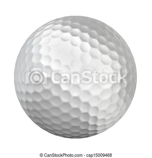 golf ball 3d illustration on white background