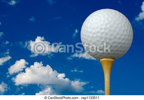 Golf Ball & Tee - csp1133511
