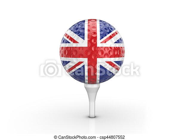 Golf ball UK flag - csp44807552
