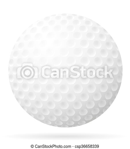 golf ball vector illustration isolated on white background rh canstockphoto ca Golf Ball Size Golf Ball Art