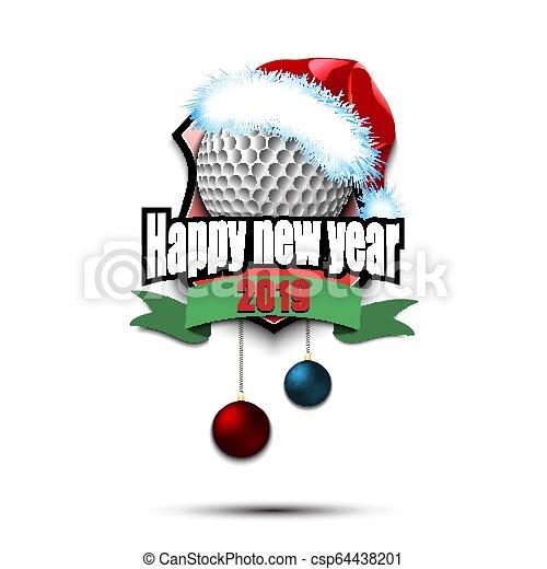 Cute Santa Claus Golfer Cartoon Royalty Free Vector Image