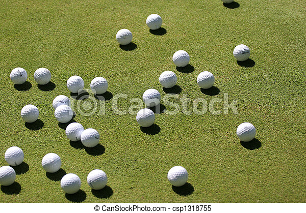 golf balls on the green - csp1318755