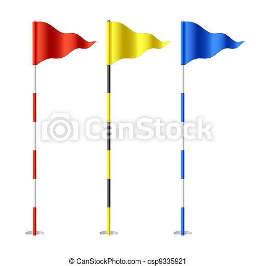 Banderas de golf - csp9335921