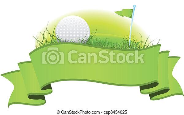 golf, bannière - csp8454025