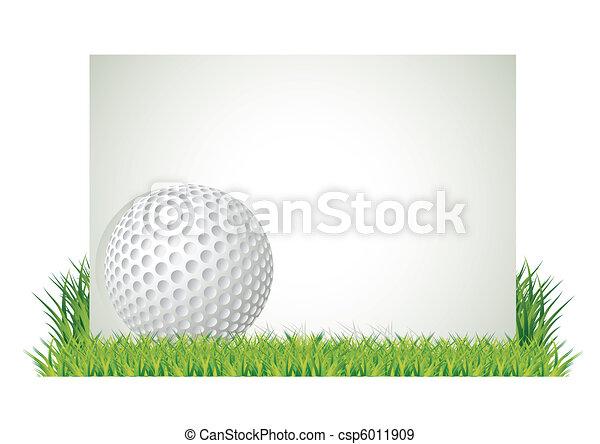 golf, bannière - csp6011909