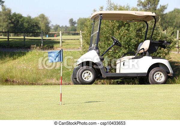Golf cart on the green - csp10433653
