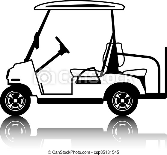 Golf Cart white - csp35131545