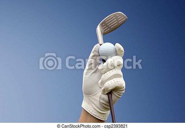 Golf club against a blue sky - csp2393821