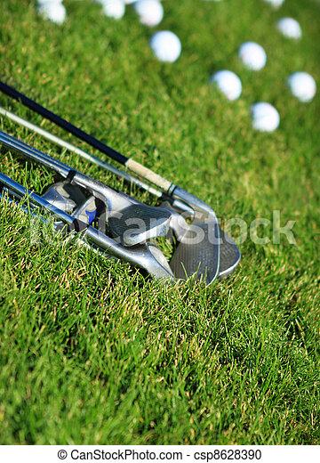 Golf clubs and golf balls - csp8628390