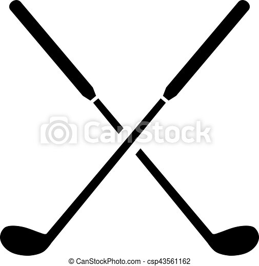golf clubs crossed rh canstockphoto com golf club clip art black and white bent golf clubs clipart