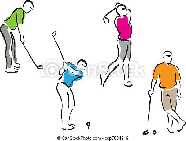 Hombres del golf, listos - csp7884919