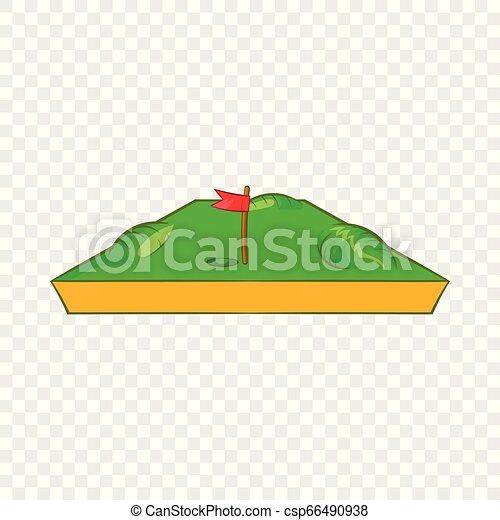 Golf course icon, cartoon style - csp66490938