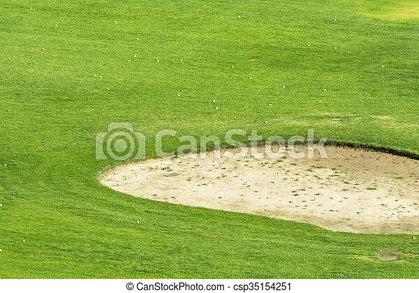Golf course sand pit - csp35154251