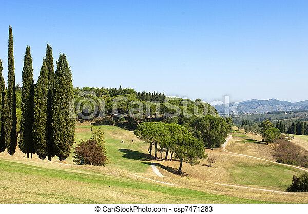 Golf course - csp7471283