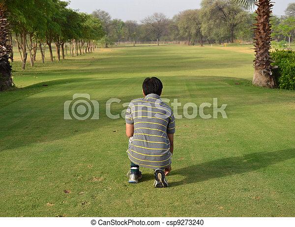 Golf Depth of Field - csp9273240