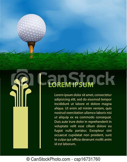 Golf design template - csp16731760