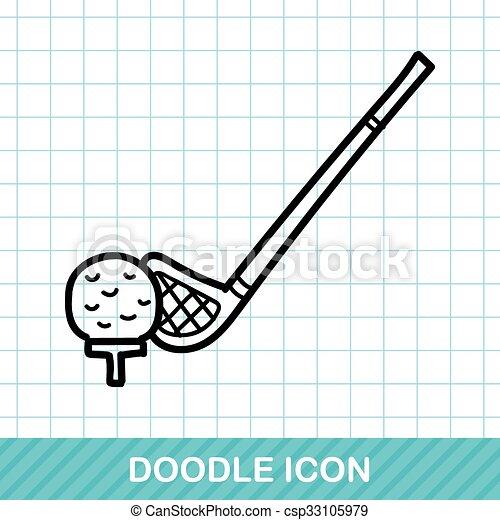 golf doodle - csp33105979