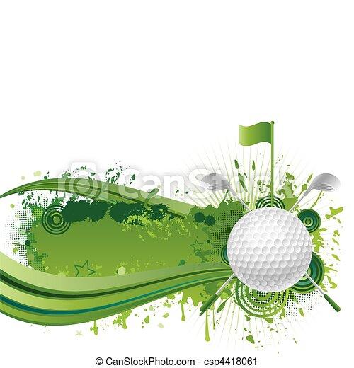 golf, elementi, disegno - csp4418061