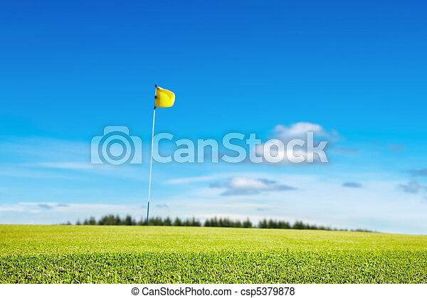 Golf field - csp5379878