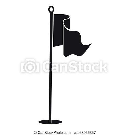 golf flag silhouette on a white background vector illustration rh canstockphoto com golf flag and ball clipart golf flag and ball clipart