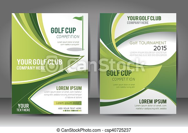 Golf Flyer And Magazine Cover Template Vector Illustration - Golf brochure template