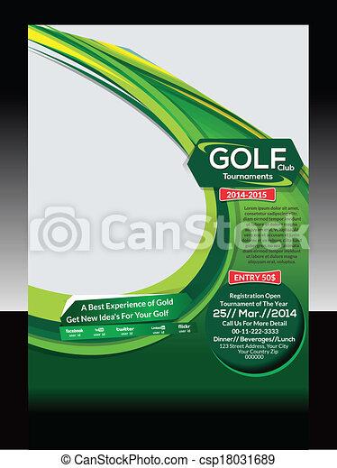 Golf Flyer Template Vector - csp18031689